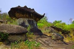 Pedra da imagem latente no parque de Mukdahan, Tailândia Fotografia de Stock Royalty Free