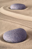 Pedra da meditação do jardim do zen Fotografia de Stock