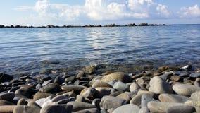 Pedra da praia Foto de Stock