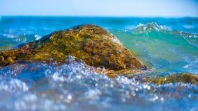 Pedra da rocha do mar da erosão litoral foto de stock