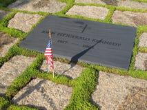 Pedra da sepultura de John F. Kennedy fotos de stock