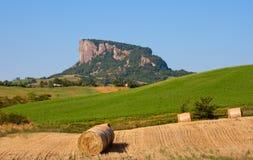 Pedra de Bismantova fotografia de stock