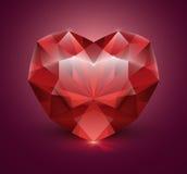 Pedra de gema dada forma cora? Imagem de Stock Royalty Free
