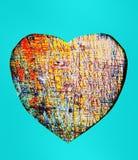 Pedra de gema do coração da textura Fotos de Stock Royalty Free