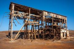 Pedra De Lume solankowej kopalni budynku maszyneria Obrazy Stock