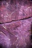Pedra de mármore antiga do alfabeto Fotos de Stock