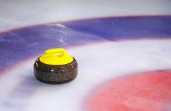 Pedra de ondulação no gelo Fotografia de Stock Royalty Free