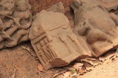 Pedra de Sati com impressões da mão fotografia de stock royalty free