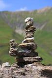Pedra de Zen Stones Zen em montanhas Fotografia de Stock Royalty Free