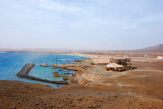 Pedra a Dinamarca Lume - console do Sal, Cabo Verde, África fotografia de stock