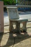A pedra do assento da cadeira foto de stock