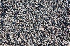Pedra do cinza da textura do cascalho fotos de stock royalty free