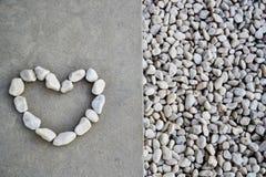 Pedra do coração Foto de Stock