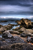 Pedra do mar de HDR Foto de Stock