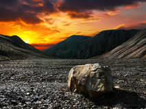 Pedra do por do sol foto de stock
