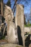 Pedra do túmulo antigo, o período do otomano, Turquia imagens de stock royalty free