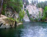 Pedra do talco, uma pedreira inundada Imagens de Stock Royalty Free