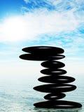 Pedra do zen na água Imagens de Stock