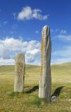 Pedra dos cervos do platô de Ukok fotografia de stock royalty free