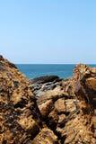 Pedra e mar Imagem de Stock