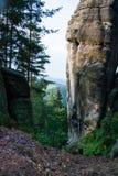 Pedra em Adrspach, CZ Fotos de Stock Royalty Free