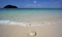 Pedra em uma praia Foto de Stock Royalty Free