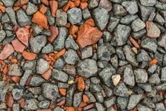 Pedra esmagada como um fundo Imagens de Stock