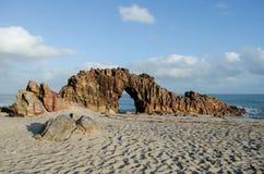 Pedra Furada dans Jericoacoara Images stock