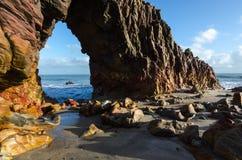 Pedra Furada dans Jericoacoara Image stock