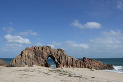 Pedra Furada. In Jericoacoara Brazil Royalty Free Stock Photography