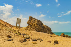 Pedra Furada Jericoacoara Brazil. Pedra furada, a famous geological rocks formations located in the beach at Jericoacoara Brazil Royalty Free Stock Image