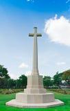 Pedra grave no cemitério da segunda guerra mundial, Fotos de Stock Royalty Free