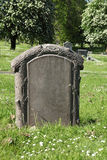 Pedra grave vazia no cemitério fotografia de stock royalty free