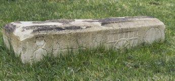 Pedra grave velha Foto de Stock