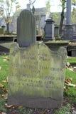 Pedra grave velha em Kirk de São Nicolau em Aberdeen, Escócia imagem de stock