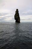 Pedra isolada nos penhascos de Moher, Irlanda Fotos de Stock Royalty Free