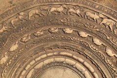 Pedra lunar cinzelada em Sri Lanka Imagem de Stock