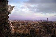 A pedra mergulhou olhares sobre Barcelona Fotografia de Stock Royalty Free