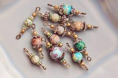 A pedra mineral perla conectores fotografia de stock royalty free