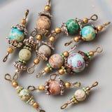 A pedra mineral perla conectores foto de stock royalty free