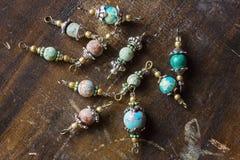 A pedra mineral perla conectores fotos de stock