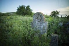 Pedra muçulmana abandonada do túmulo Foto de Stock