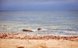 Pedra na costa Imagem de Stock