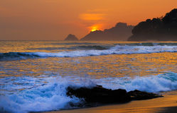 Pedra na praia Fotografia de Stock Royalty Free
