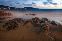 Pedra na praia Imagem de Stock Royalty Free