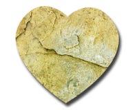 Pedra natural da forma do coração - símbolo Foto de Stock Royalty Free