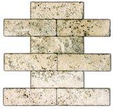 Pedra natural sem emenda dos ladrilhos da textura da telha de mármore bege Fotografia de Stock Royalty Free