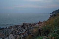 Pedra no mar Imagem de Stock