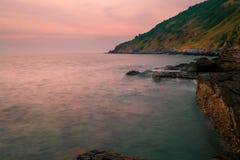 Pedra no mar Fotografia de Stock