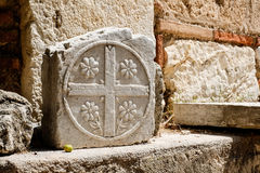 Pedra no templo grego, Grécia Fotos de Stock